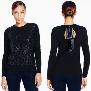 ✨ Kate Spade Cream Fluffy Wool Sequin Sweater ✨